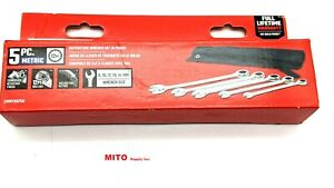 New CRAFTSMAN 5 Pc. Ratcheting Wrench Set in Pouch - Metric- Free Shipping