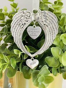 Angel Wings Pendant Memorial Christmas Gifts Tree Decoration Mum Dad Nan Nana