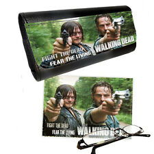 Walking Dead Rick Daryl Reading Glasses Pictaletather Case & Lens Cleaning Cloth