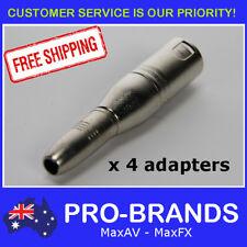 "4pcs Male XLR Plug to TRS Female 1/4"" Jack Balanced Audio Audio Adapter 6.35mm"