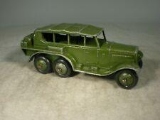 Dinky Toys Army Reconnaissance Car #152b PREWAR SMOOTH HUBS & GREEN BASE