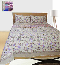 TRAPUNTINO MATRIMONIALE COTONE MADE ITALY QUILT COPRILETTO PIAZZE PANNA RIGHE FP