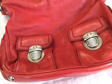 Marc Jacobs Red Leather Shoulder Handbag Purse Bag