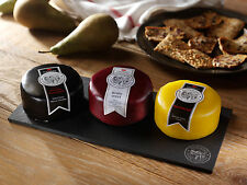 Snowdonia Cheese Company Slate Cheese Board - Black Bomber, Beechwood, Ruby Mist