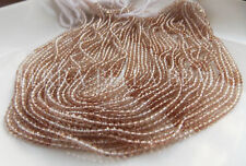 """13"""" strand shaded natural IMPERIAL TOPAZ faceted gem stone rondelle beads 3mm"""