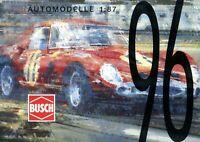 4001BU Busch Prospekt Automodelle 1:87 1996 Katalog Modellautos