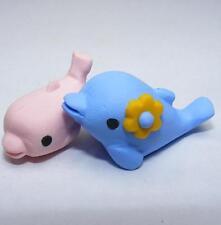 Sueño: animales Del Mar Azul y Rosa Madre Bebé Delfín Par Goma de Borrar