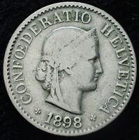 1898 Switzerland 5 Rappen