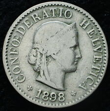 1898  Svizzera Switzerland  5  Rappen