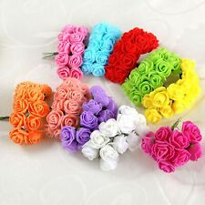 DIY Wreaths Collage Craft Flowers Mini Artificial Foam Rose Wedding Decorated