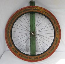 Vintage Painted Wooden Carnival Game Wheel of Chance Fire Companies Berks Co.