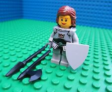 Lego Castle Princess Knight Minifigure Minifig Kingdoms Female Girl Shield Axe
