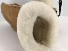 Women's UGG Brand Tan SOFT LEATHER Warm Winter Gloves - size M - $140 MSRP
