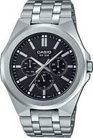 NEW MODEL 2019 CASIO MTP-SW330D-1A MULTI-HAND MENS STAINLESS STEEL BAND WATCH