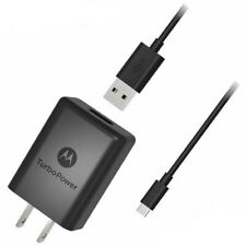 OEM Moto TurboPower 15 Plus - QC 3.0 Wall Charger with USB-A /Type C Cable Black