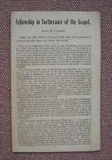 Fellowship in Furtherance of the Gospel ~ John B. Cowden Church of Christ ~ RARE
