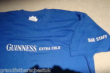 GUINNESS ADVERTISING RARE GENUINE MERCHANDISE NEW TEE T SHIRT SIZE XL COLD BLUE