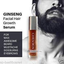 Ginseng Serum FACIAL HAIR GROWTH FAST GROW MUSTACHE BEARD SIDEBURNS EYEBROW