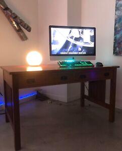 STICKLEY Mission Collection: Spindly Library OAK Computer Work Desk.