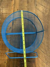 """New Listing11"""" hamster and other small blue Animal Wheel Heavy Duty Guinea Pig For Scale"""