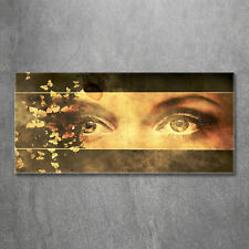 Glas-Bild Wandbilder Druck auf Glas 120x60 Deko Menschen Augen Schmetterlinge