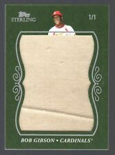 2008 Topps Sterling Bob Gibson Super Jumbo Patch #1/1 Cardinals