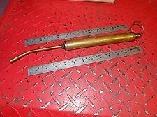 2ND Vintage Automobilia Latón de aceite vehículo de aceite shringe Herramienta Kit de herramientas