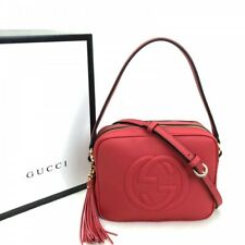 GG Soho Red Small Leather Disco Bag