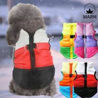 Warm Padded Dog Coat Jacket Chihuahua Winter Pet Vest Small Cat Clothes XS-XL