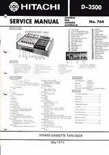 MANUEL DE REPARATION POUR Hitachi d-3500