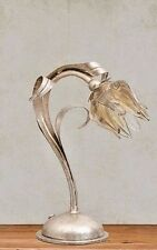 l Montalto Giglio Murano Art Glass Shade Original Flower Table Lamp  Beautiful