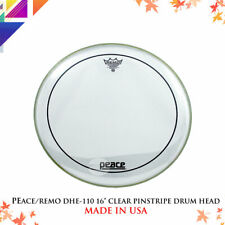 "PEACE/REMO DHE-110 16"" Clear Pinstripe Drum Head"