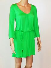 Mud Pie Mid Thigh Mod Dress Loose w/Fitted Waist 3/4 Sleeve Green or Black S/M/L