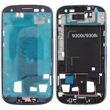 Samsung Galaxy S3 Neo i9301 Display Rahmen Frame Bezel Blau inkl. Klebefolie