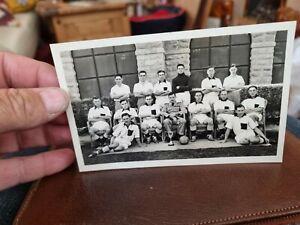 R.A.F B SQUADRON FOOTBALL TEAM 1938-39. VINTAGE REAL PHOTO POSTCARD
