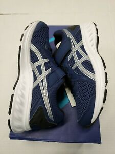 NIB Asics Jolt 2 PS Running Shoes Blue Silver 1014A034-406 Kids Youth Size 1 New