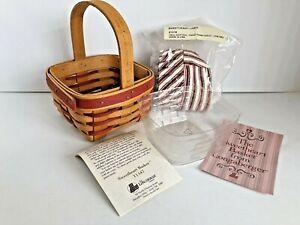 Longaberger 1994 Red Sweetheart Series Basket Combo-NEW