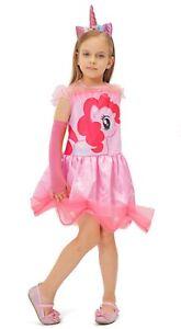 Mädchen Karneval Kostüm Fasching Cosplay Einhorn Prinzessinkleid