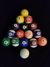 Vintage Complete Set Billiards Pool Balls