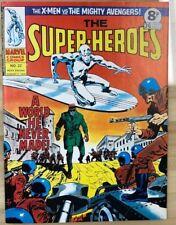 THE SUPER-HEROES #22 X-Men Avengers (1975) Marvel Comics UK B&W magazine FINE
