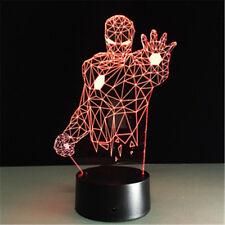Iron Man Batman Spiderman lamp 3d led lamp Marvel 3D Light Gift For Children