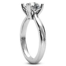 0.48 Carat Round Cut Diamond Ring Solitaire Engagement White Gold 14k