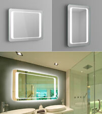 Large Bathroom LED Mirror Electric Wall Hung Unit Antifog Demisting Pad Sensor