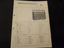 Original Service Manual SABA Sandy Automatic F
