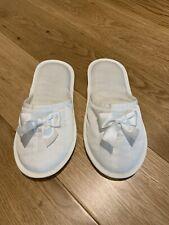 Zara Home Satin Indoors Flats Shoes Slippers Flip Flops White 37 - 38 UK 4 - 5