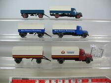 n186-0,5 #3X Wiking H0 Magirus Deutz Truck / Trailer Truck: