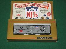 Mantua HO scale Los Angeles Raiders Super Bowl Express 40' Box Car