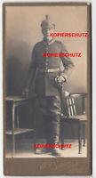 Altes Foto Portrait Soldat Pickelhaube Artillerie Regiment Jüterbog Uniform