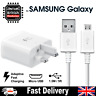 Fast Charger Plug & Micro USB Cable For Samsung Galaxy S7 Edge S6 S5 Note 4 5 UK