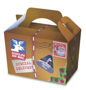 10 xSpecial Delivery Xmas Food Boxes Christmas Festive Goodie Box Party Supplies